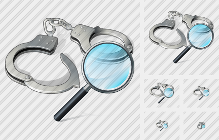 Icône Handcuffs Search 2