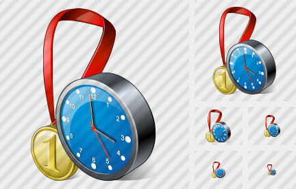 Medal Clock Icon