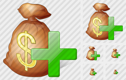 Money Bag Add Icon