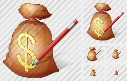 Money Bag Edit Symbol