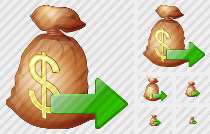 Money Bag Export Icon