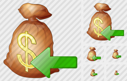 Money Bag Import Symbol