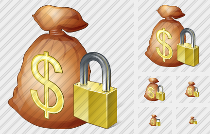 Money Bag Locked Symbol