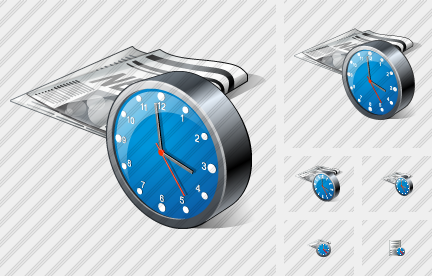 Newspaper Clock Icon
