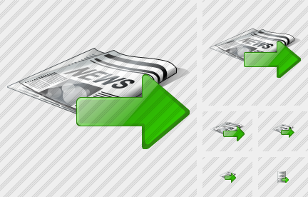 Newspaper Export Icon