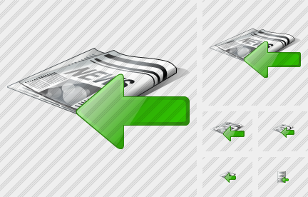 Newspaper Import Icon
