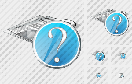 Newspaper Question Icon