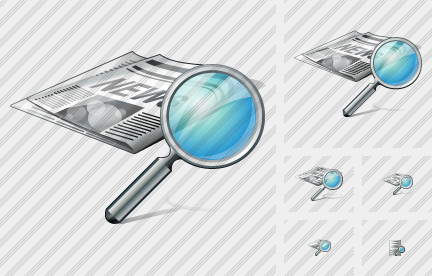 Newspaper Search Icon
