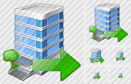 Office Building Export Icon
