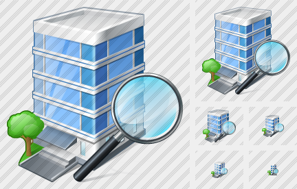 Office Building Search 2 Icon
