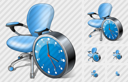 Office Chair Clock Symbol
