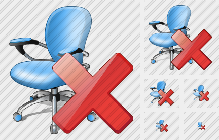 Office Chair Delete Icon