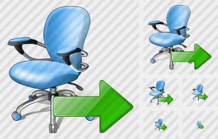 Office Chair Export Icon