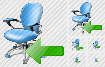 Office Chair Import Icon