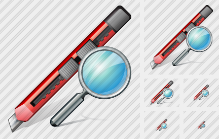 Office Knife Search Icon