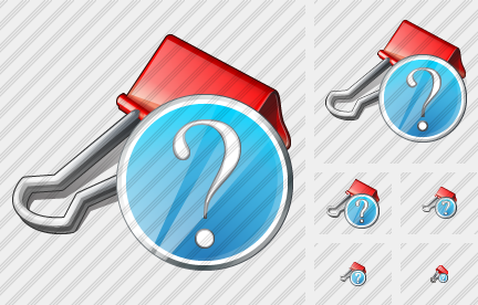 Paper Clip Question Icon