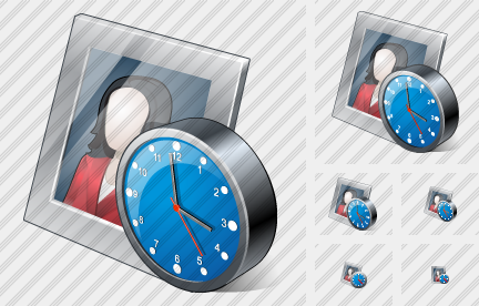 Photo Frame Clock Icon