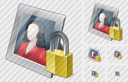 Icône Photo Frame Locked