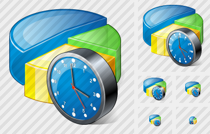 Pie Chart Clock Icon