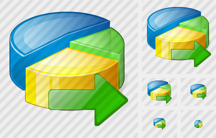 Pie Chart Export Icon