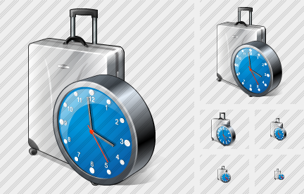 Road Bag Clock Icon