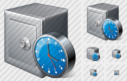 Safe Clock Icon