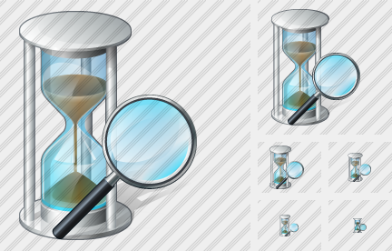 Sand Glass Search 2 Icon
