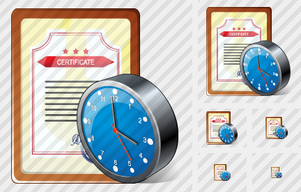 Sertificate Clock Icon