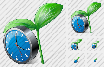 Sprouts Clock Icon