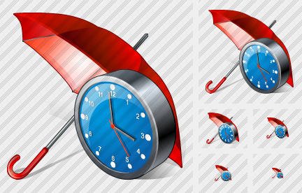 Umbrella Clock Symbol
