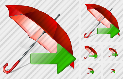 Icône Umbrella Export