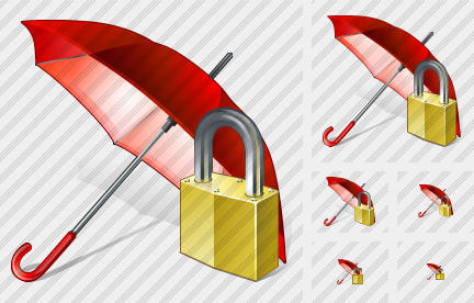 Umbrella Locked Icon