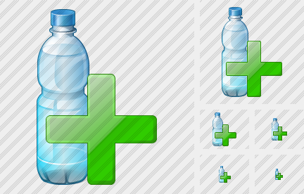 Water Bottle Add Icon