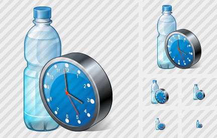 Icône Water Bottle Clock