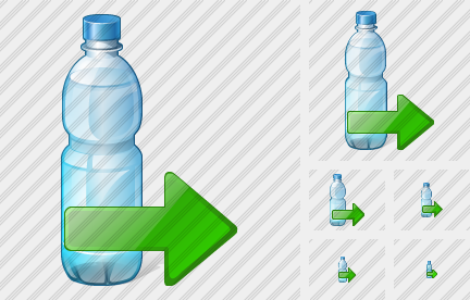 Water Bottle Export Icon