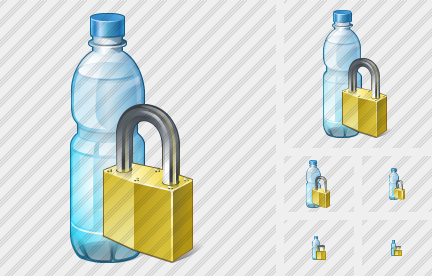 Icône Water Bottle Locked
