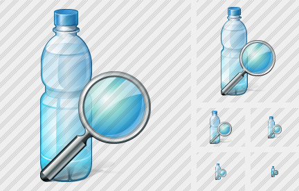 Water Bottle Search Symbol