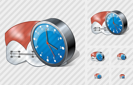 Braces Clock Icon