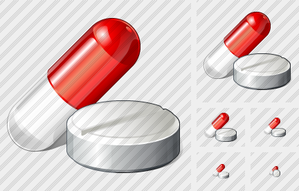 Capsule Tablet Icon