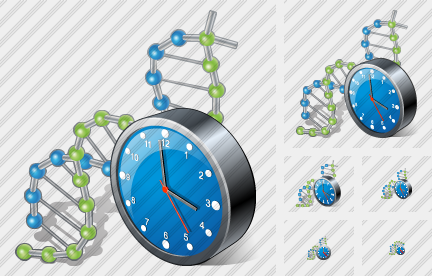Dna Clock Icon