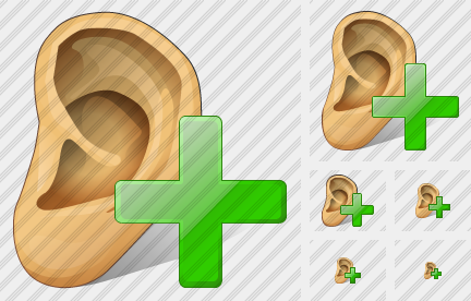 Ear Add Icon