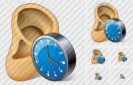 Ear Clock Icon