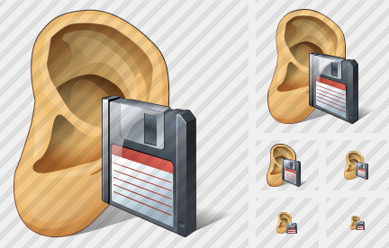 Ear Save Icon