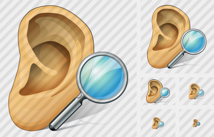 Ear Search Symbol