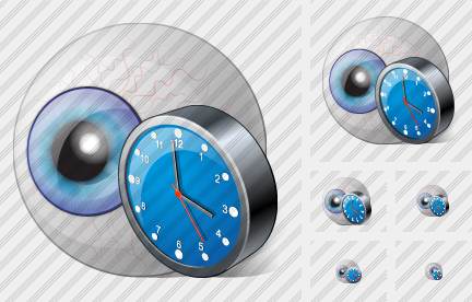 Eye Clock Icon