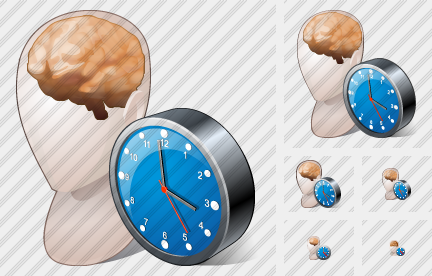 Head2 Clock Icon