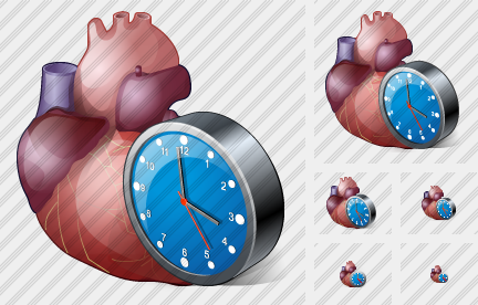 Heart Clock Icon