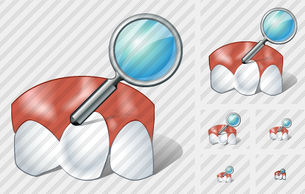 Rotated Tooth Search Icon
