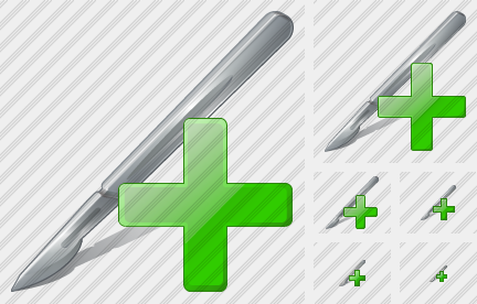 Scalpel Add Icon