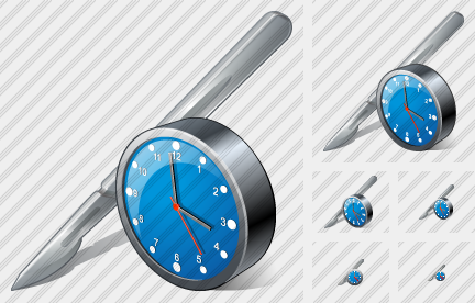 Scalpel Clock Icon